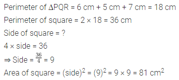 ML Aggarwal Class 6 Solutions for ICSE Maths Chapter 14 Mensuration Check Your Progress Q2.1