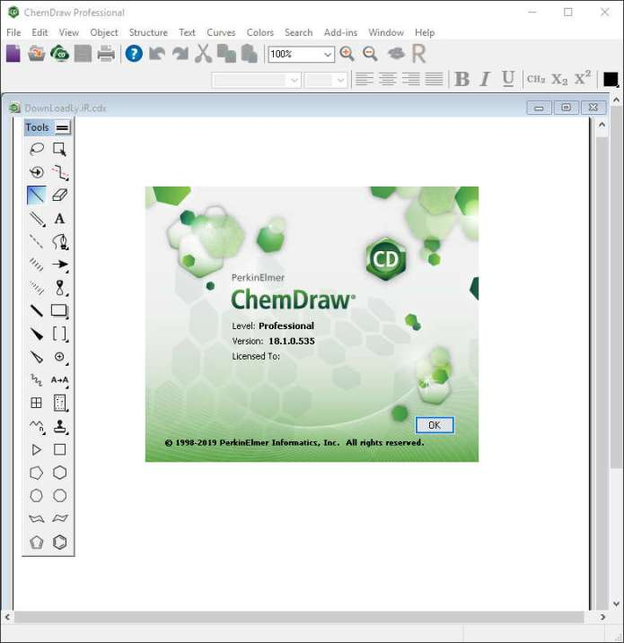 Working with PerkinElmer ChemDraw 2018 full license