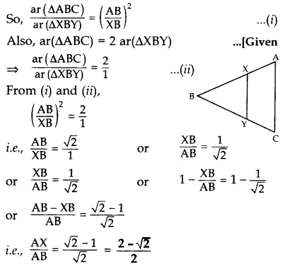 Important Questions for Class 10 Maths Chapter 6 Triangles 49