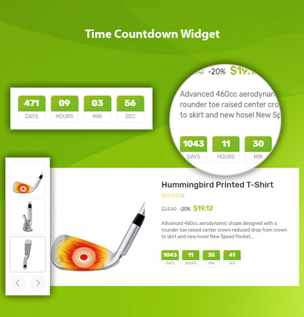 Vega Store e-commerce Prestashop theme - countdown timer
