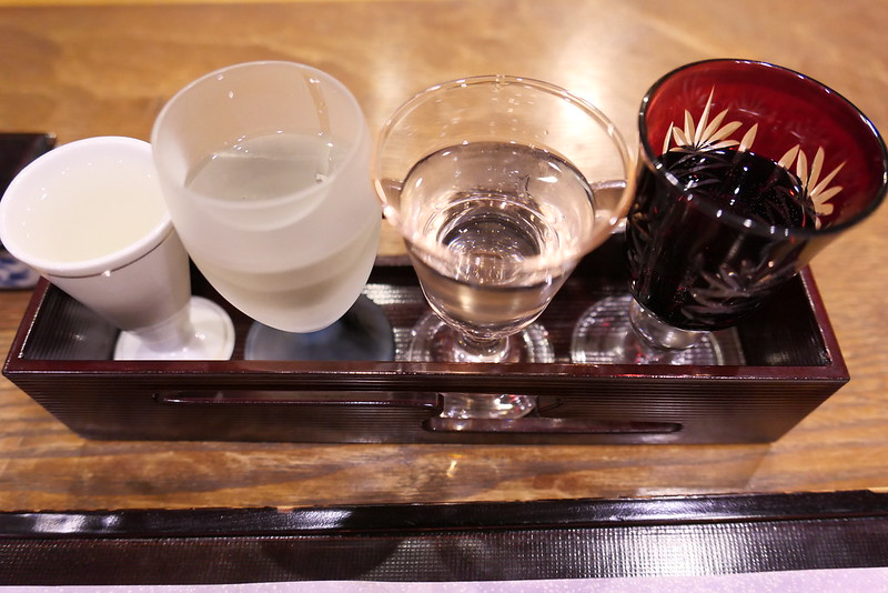 Japanese sake sampler