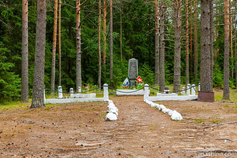 Братская могила советских воинов недалеко от УР Инкиля, Ленинградская область