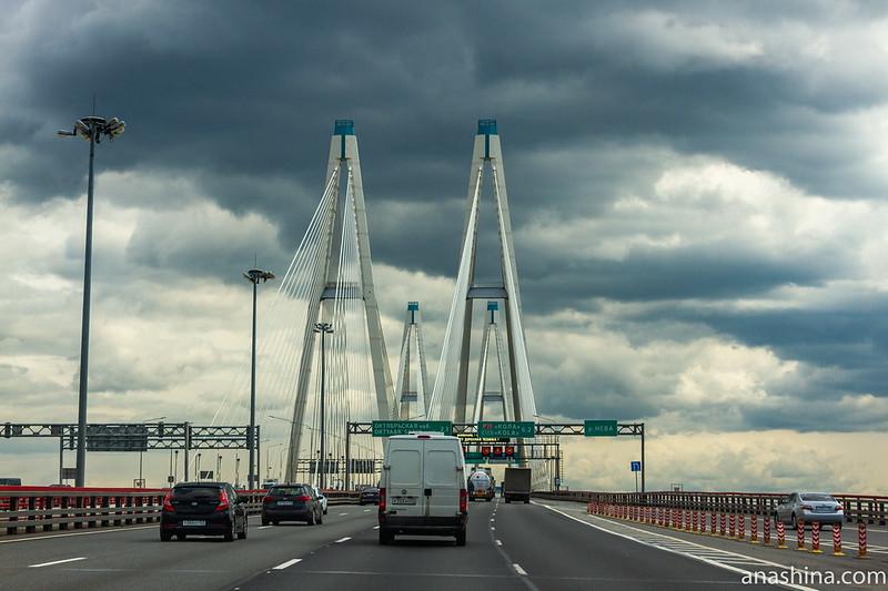 Большой Обуховский мост, КАД, Санкт-Петербург