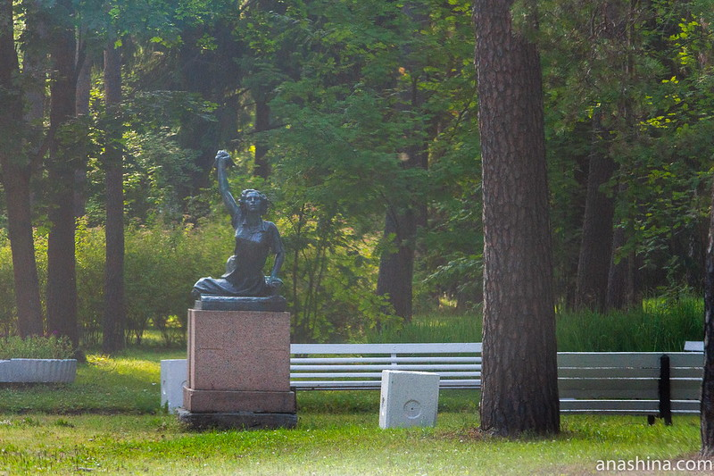 Памятник французской коммунистке Раймонде Дьен, Зеленогорск
