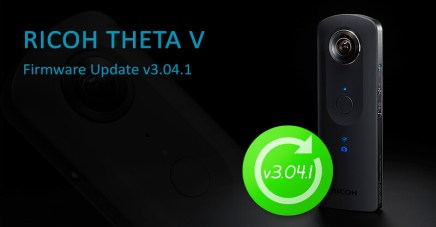 New firmware update v3.04.1 for RICOH THETA V!