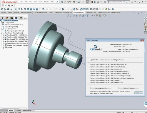 Working with CAMWorks 2019 SP3.0 Build 2019.08.02 for solidworks 2018-2019 full