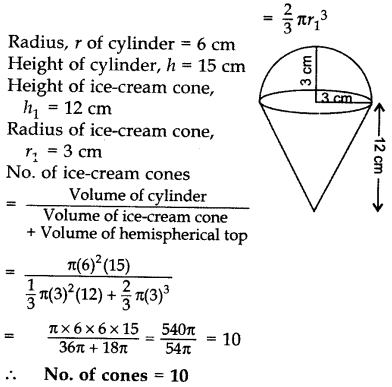 Important Questions for Class 10 Maths Chapter 13 Surface Areas and Volumes 64