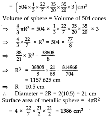 Important Questions for Class 10 Maths Chapter 13 Surface Areas and Volumes 47