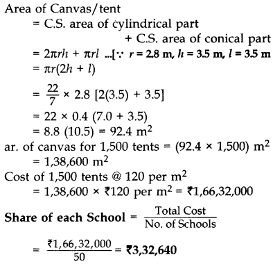 Important Questions for Class 10 Maths Chapter 13 Surface Areas and Volumes 85