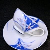 有田燒的杯子很貴嗎?香蘭社「靜蘭」咖啡杯盤組