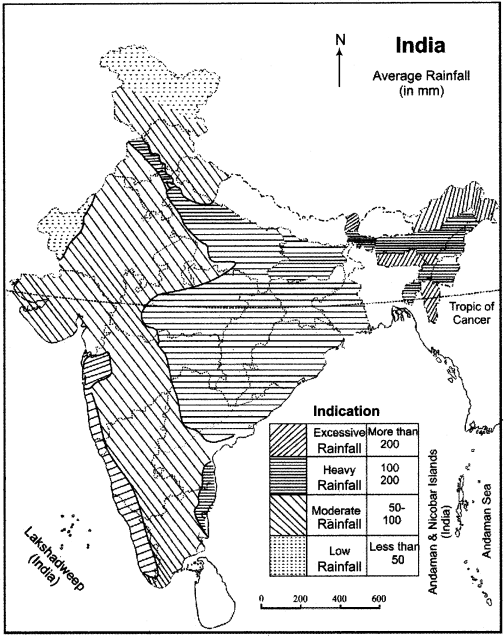 RBSE Solutions for Class 11 Indian Geography Chapter 6 Climate of India 1