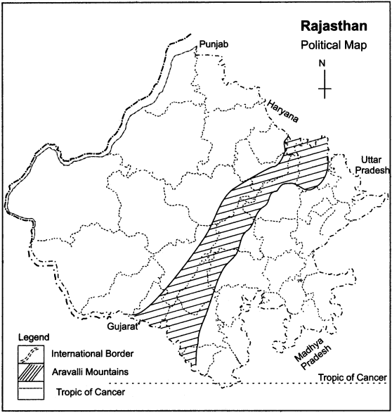 RBSE Solutions for Class 11 Indian Geography Chapter 12 Rajasthan Introduction, Physical Features and Drainage System 3