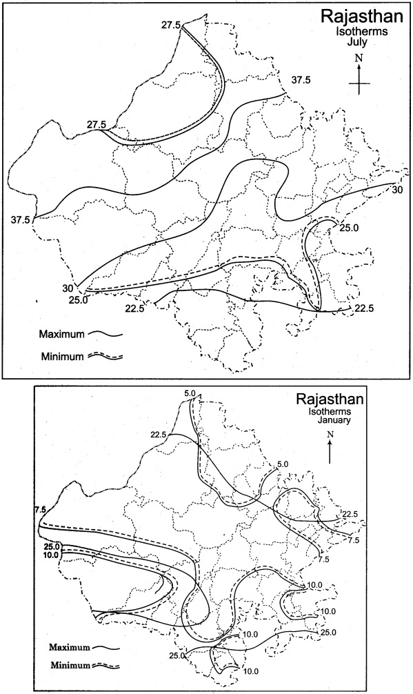RBSE Solutions for Class 11 Indian Geography Chapter 13 Rajasthan Climate, Vegetation and Soil 5