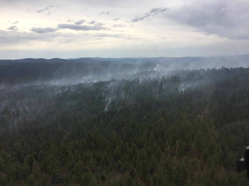 7.9.19 Blue Ridge Fire overview from Helicopter