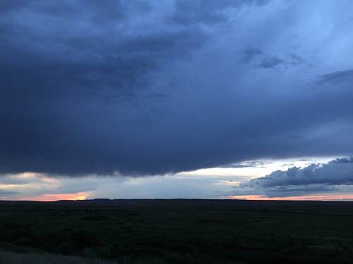 Grasslands National Park West Block - sunset almost
