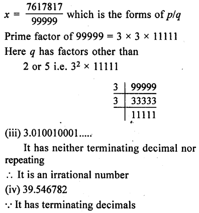 ML Aggarwal Class 9 Solutions for ICSE Maths Chapter 1 Rational and Irrational Numbers Chapter Test 27