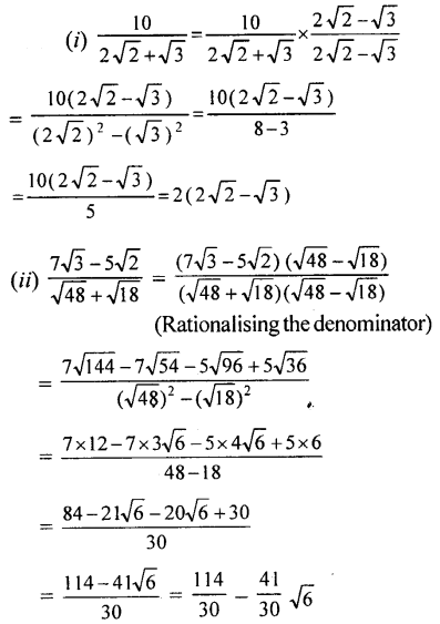 ML Aggarwal Class 9 Solutions for ICSE Maths Chapter 1 Rational and Irrational Numbers Chapter Test 10