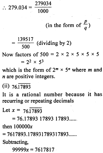 ML Aggarwal Class 9 Solutions for ICSE Maths Chapter 1 Rational and Irrational Numbers Chapter Test 26