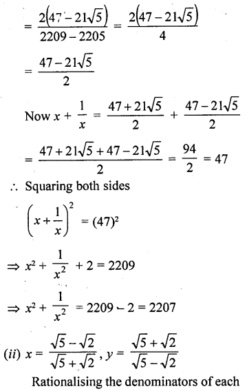 ML Aggarwal Class 9 Solutions for ICSE Maths Chapter 1 Rational and Irrational Numbers Chapter Test 17
