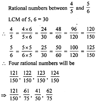 ML Aggarwal Class 9 Solutions for ICSE Maths Chapter 1 Rational and Irrational Numbers Chapter Test 4
