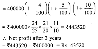 ML Aggarwal Class 9 Solutions for ICSE Maths Chapter 2 Compound Interest Chapter Test 18