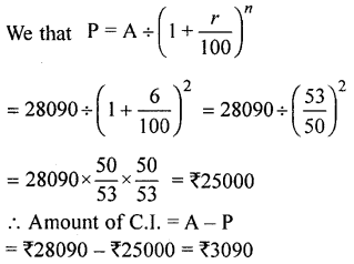 ML Aggarwal Class 9 Solutions for ICSE Maths Chapter 2 Compound Interest Chapter Test 4