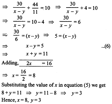 ML Aggarwal Class 9 Solutions for ICSE Maths Chapter 5 Simultaneous Linear Equations Chapter Test 10