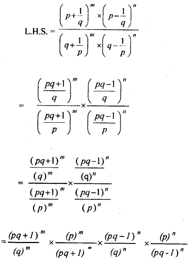 ML Aggarwal Class 9 Solutions for ICSE Maths Chapter 8 Indices Chapter Test 4