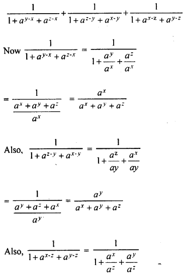 ML Aggarwal Class 9 Solutions for ICSE Maths Chapter 8 Indices Chapter Test 11