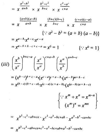 ML Aggarwal Class 9 Solutions for ICSE Maths Chapter 8 Indices Chapter Test 8