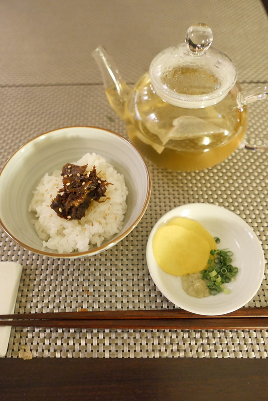 和牛しぐれ煮ご飯茶漬け Wagyu beef Bowl w/ meat & Ginger simmered in Soy Sauce