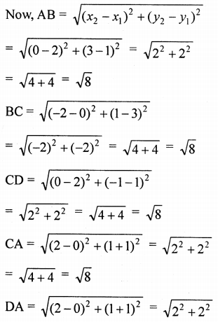 ML Aggarwal Class 9 Solutions for ICSE Maths Chapter 19 Coordinate Geometry Chapter Test 31