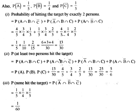 ISC Class 12 Maths Previous Year Question Papers Solved 2015 Q8.1