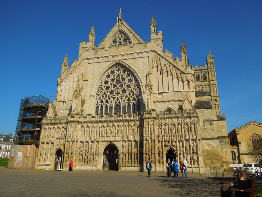 The main cathedral in Exeter