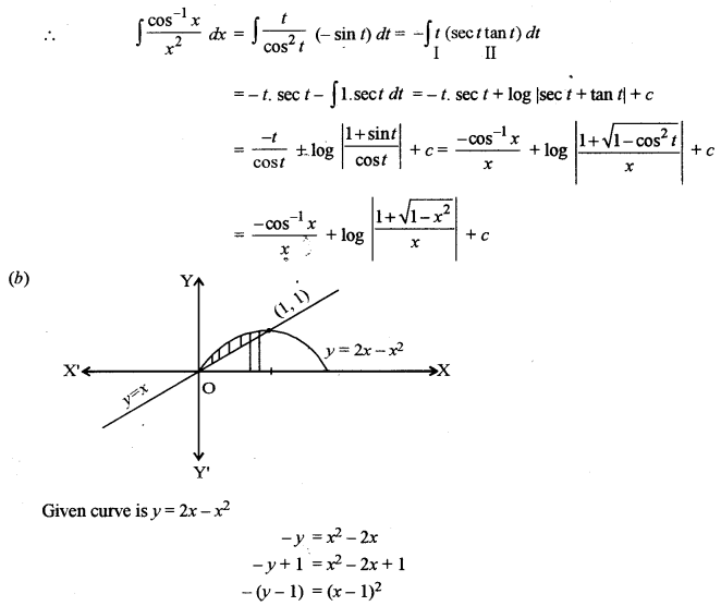 ISC Class 12 Maths Previous Year Question Papers Solved 2013 Q6