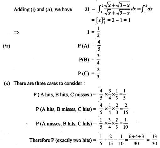 ISC Class 12 Maths Previous Year Question Papers Solved 2012 Q1.6