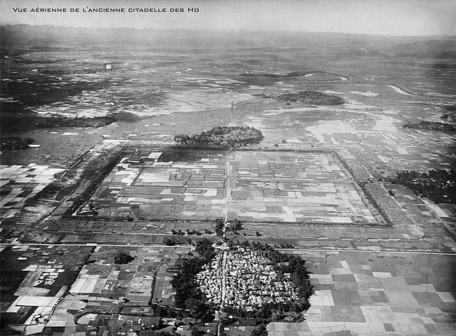 Vue aérienne de l'ancienne citadelle des Ho.