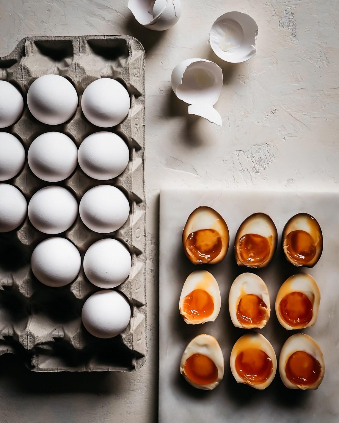 marinoidut kananmunat