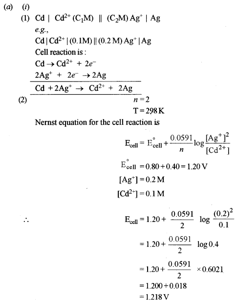 ISC Chemistry Question Paper 2016 Solved for Class 12 Q4