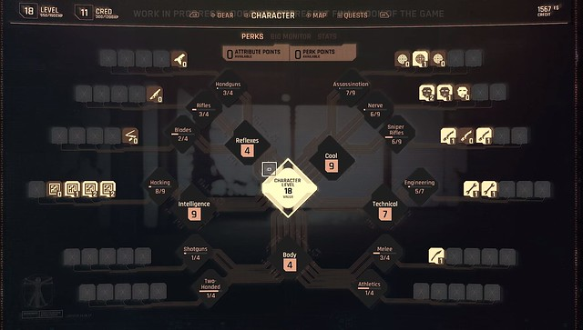 Cyberpunk 2077-キャラクターレベル
