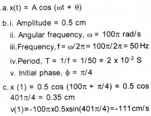 HSSLive Plus One Physics Chapter Wise Questions and Answers Chapter 14 Oscillations 8