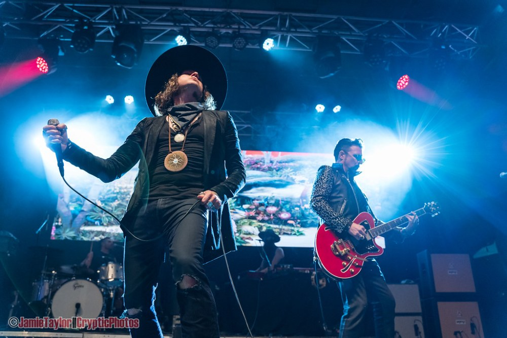 Singer Jay Buchanan and guitarist Scott Holiday of Rival Sons performing at Summerset Music & Arts Festival at Fort Langley in Langley, BC on August 30th, 2019