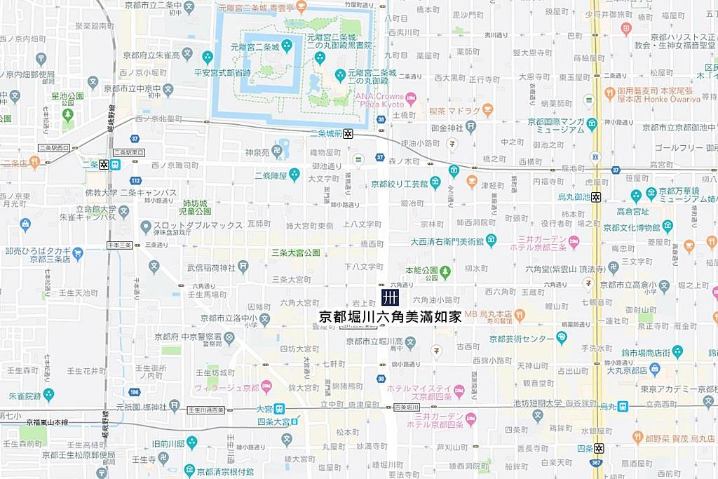 MIMARU Kyoto Horikawa Rokkaku Map