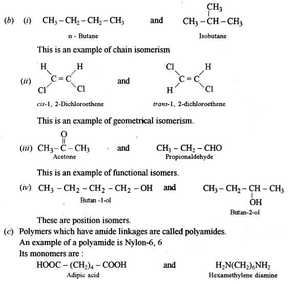 ISC Chemistry Question Paper 2011 Solved for Class 12 Q10.1
