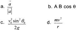 HSSlive Plus One Physics Chapter Wise Questions and Answers Chapter 4 Motion in a Plane 16