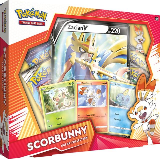 Pokémon TCG Galar Collection Scorbunny + Zacian Box Shot