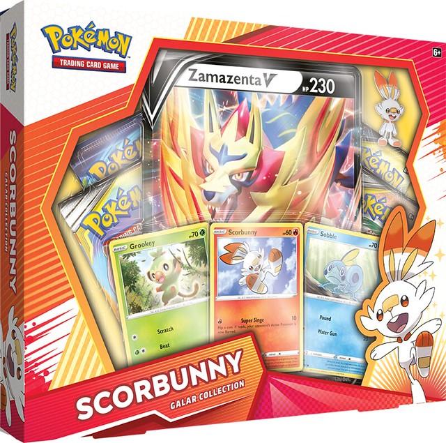 Pokémon TCG Galar Collection Scorbunny + Zamazenta Box Shot
