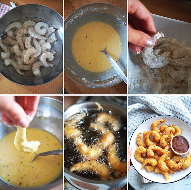 How to make gluten free prawn tempura step by step