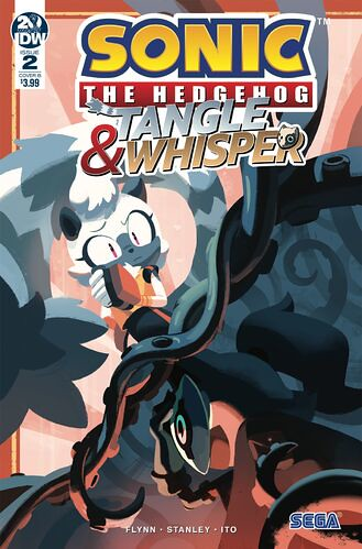 Tangle and Whisper Issue 2 IDW Comics Cover B nathalie Fourdraine