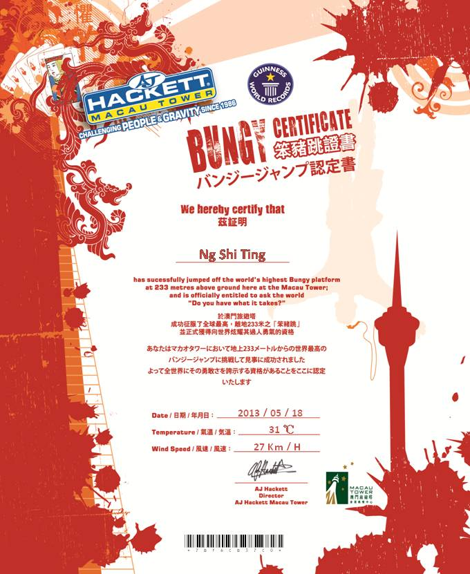 Bungy Jump @ Macau Tower | Macau, China